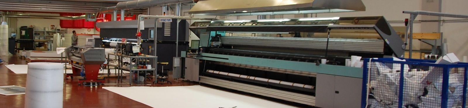 Stampa su grande formato rotoli fino a 5 metri